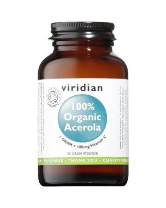 Ekološka Acerola – vitamin C v prahu Viridian (50g)